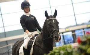 Anya Cooper, dressage rider on horse