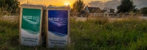 Nedz bed products in field with sunset