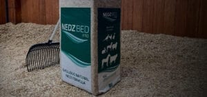 Nedz Bed Pro in stable with straw on floor